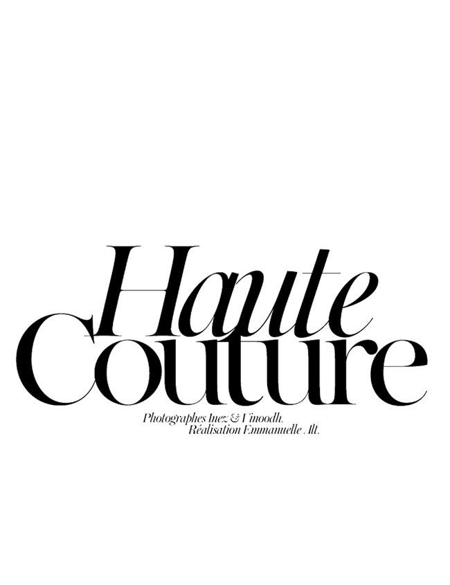 VOGUE PARIS- Raquel Zimmermann in Haute Couture by Inez & Vinoodh. Emmanuelle Alt, November 2011, www.imageamplified.com, Image Amplified7