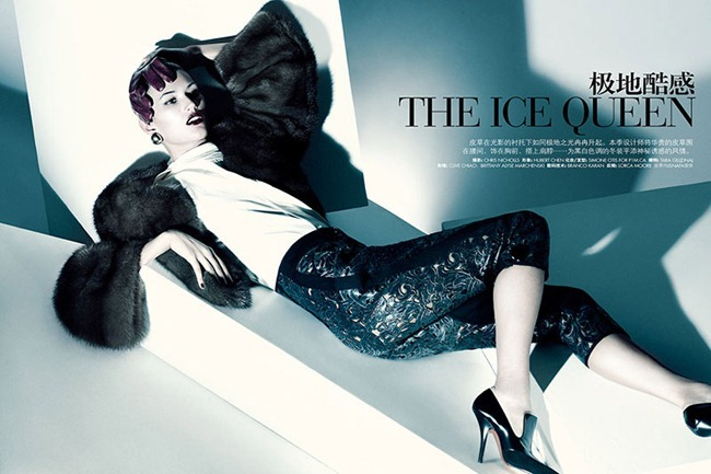 ELLE CHINA Tara Gill in The Ice Queen by Chris Nicholls. November 2011, www.imageampilfied.com, Image Amplified (2)