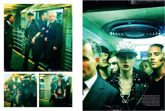 VOGUE ITALIA- Raquel Zimmermann in The A Train by Steven Meisel. Carlyne Cerf de Dudzeele, November 2011, www.imageamplified.com, Image Amplified9