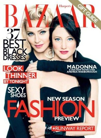 HARPER'S BAZAAR MAGAZINE Madonna & Andrea Risenborough by Tom Munro. December 2011, www.imageamplified.com, Image Amplified (3)