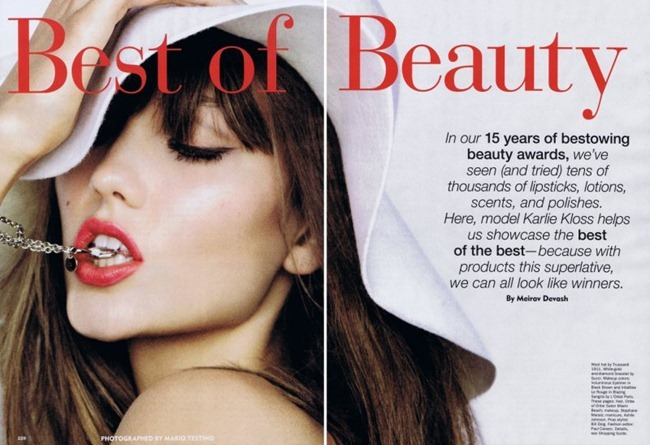ALLURE MAGAZINE Karlie Kloss in Best of Beauty by Mario Testino. Paul Cavaco, October 2011, www.imageamplified.com, Image Amplified (2)