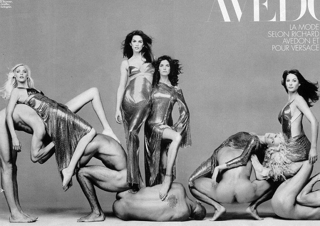 WE ♥ VERSACE- Claudia Schiffer & Cindy Crawford for Versace Fall 1994 by Richard Avedon. www.imageampilfied.com, Image Amplified3 (1)