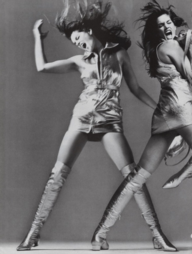 WE ♥ VERSACE- Claudia Schiffer & Cindy Crawford for Versace Fall 1994 by Richard Avedon. www.imageampilfied.com, Image Amplified2