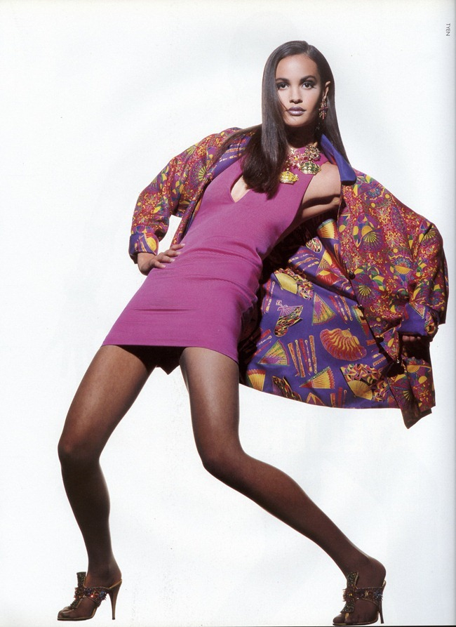 WE ♥ VERSACE- Gurmit, Karen Mulder & Claudia Mason for Atelier Versace S S 1991 by Tyen. www.imageampilfied.com, Image Amplified4