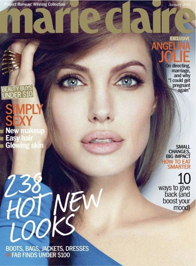 MARIE CLAIRE MAGAZINE Angelina Jolie in Unstoppable Angelina by Alexei Hay. January 2012, Alison Edmond, www.imageamplified.com, Image Amplified (5)