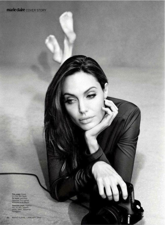 MARIE CLAIRE MAGAZINE Angelina Jolie in Unstoppable Angelina by Alexei Hay. January 2012, Alison Edmond, www.imageamplified.com, Image Amplified (1)