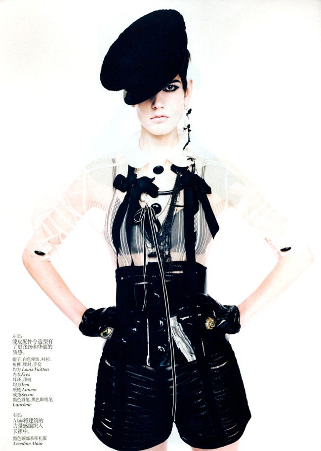VOGUE CHINA- Saskia De Brauw in Graphic Opposition by Paolo Roversi. Nicoletta Santoro, December 2011, www.imageamplified.com, Image Amplified6