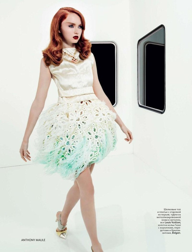 VOGUE RUSSIA- Lily Cole in Bouquet Lily by Anthony Maule. Ekaterina Mukhina, January 2012, www.imageamplified.com, Image Amplified3