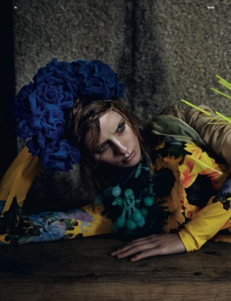 DAZED & CONFUSED MAGAZINE- Julia Frauche in Super Natural by Yelena Yemchuk. Karen Langley, January 2012, www.imageamplified.com, Image Amplified9