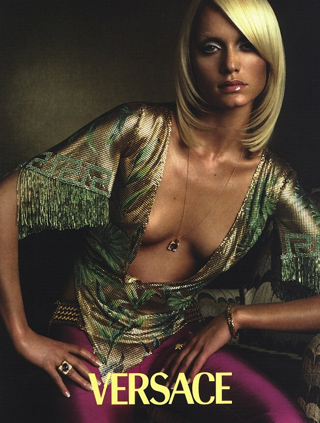 WE ♥ VERSACE- Amber Valletta for Versace Spring 2000 by Steven Meisel. www.imageamplified.com, Image Amplified1