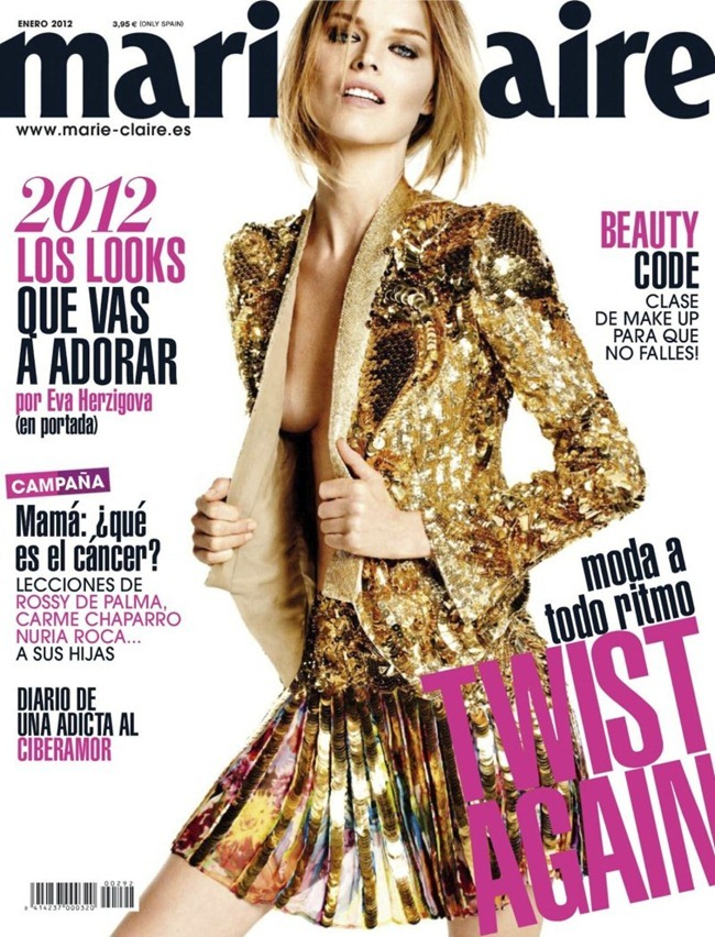MARIE CLAIRE SPAIN- Eva Herzigova in Un Rayo de Sol by David Roemer. Enrique Campos, January 2012, www.imageamplified.com, Image Amplified3
