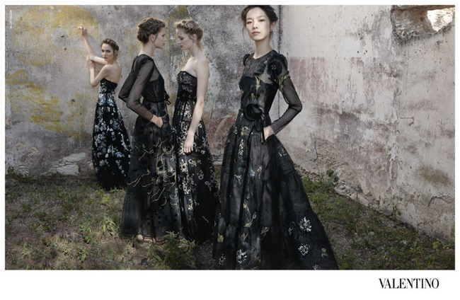 CAMPAIGN- Bette Franke, Fei Fei Sun, Zuzanna Bijoch & Maud Welzen for Valentino Spring 2012 by Deborah Turbeville. www.imageamplified.com, Image Amplified3