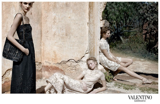 CAMPAIGN- Bette Franke, Fei Fei Sun, Zuzanna Bijoch & Maud Welzen for Valentino Spring 2012 by Deborah Turbeville. www.imageamplified.com, Image Amplified5