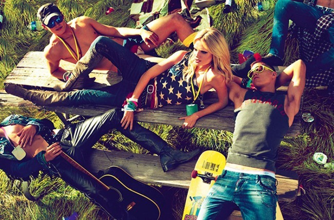 CAMPAIGN- Natasha Poly, Dimitry Tanner, Paolo Anchisi, Matt Woodhouse & Ton Heukels for DSquared2 by Mert & Marcus. www.imageamplified.com, Image Amplified3