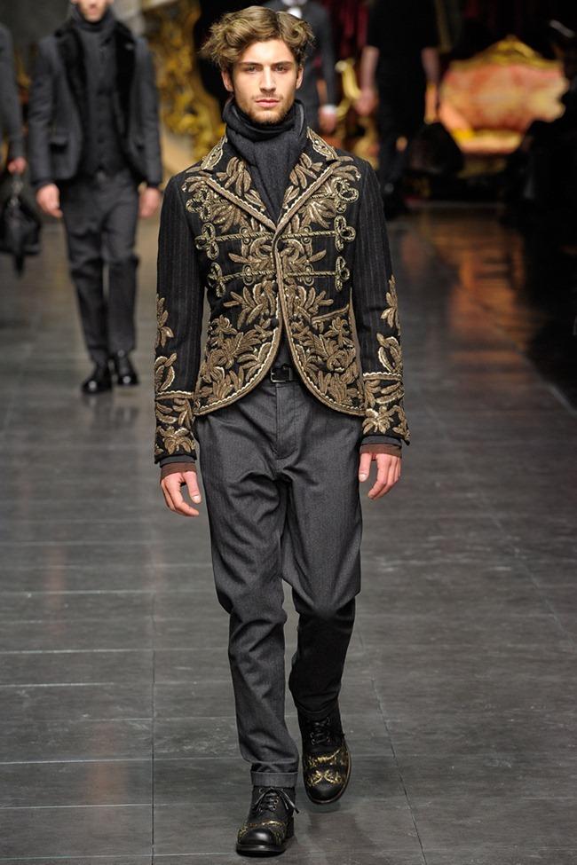 MILAN FASHION WEEK- Dolce & Gabbana Men's Fall 2012. www.imageamplified.com, Image Amplified6 (4)