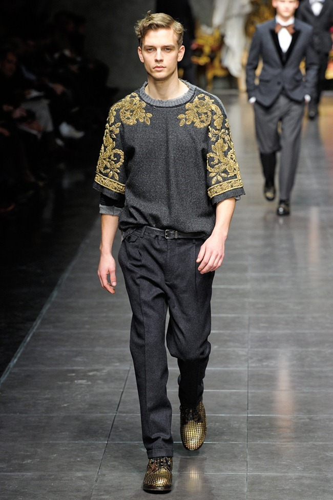 MILAN FASHION WEEK- Dolce & Gabbana Men's Fall 2012. www.imageamplified.com, Image Amplified1 (1)