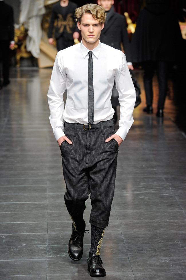 MILAN FASHION WEEK- Dolce & Gabbana Men's Fall 2012. www.imageamplified.com, Image Amplified3 (1)