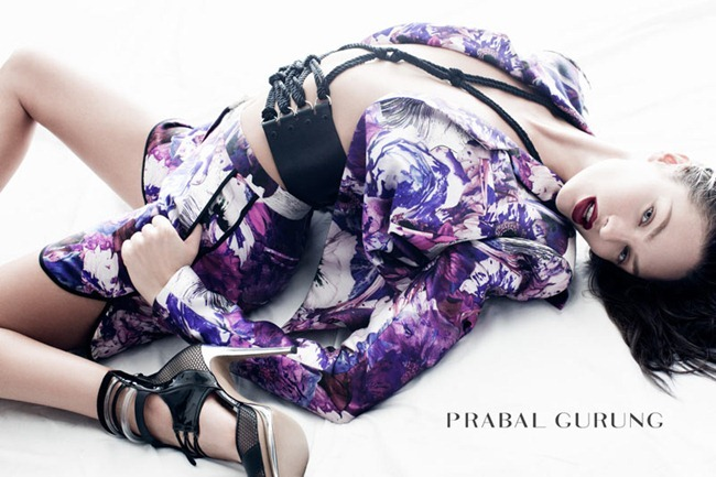 CAMPAIGN Candice Swanepoel for Prabal Gurung Spring 2012 by Daniel Jackson. www.imageamplified.com, Image Amplified