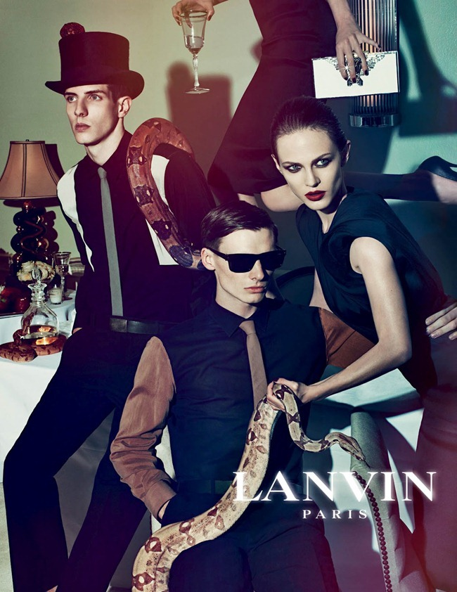 CAMPAIGN Johannes Schulze, Angus Low, Aaron Vernon, Othilia Simon, Aymeline Valade & Marte Mei van haaster for Lanvin Spring 2012 by Steven Meisel. www.imageamplified.com, Image Amplified (5)