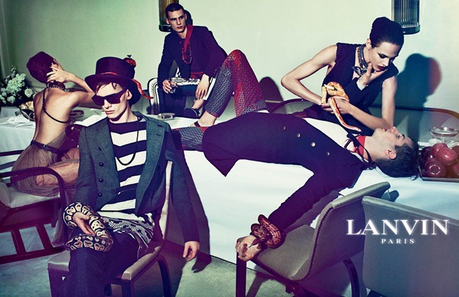 CAMPAIGN Johannes Schulze, Angus Low, Aaron Vernon, Othilia Simon, Aymeline Valade & Marte Mei van haaster for Lanvin Spring 2012 by Steven Meisel. www.imageamplified.com, Image Amplified (9)