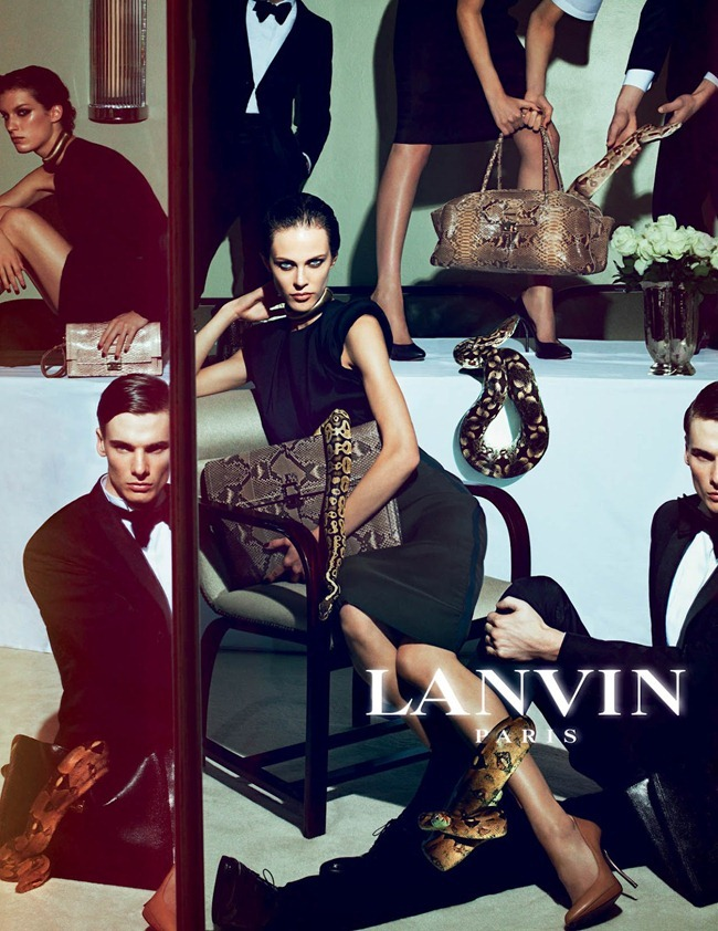 CAMPAIGN Johannes Schulze, Angus Low, Aaron Vernon, Othilia Simon, Aymeline Valade & Marte Mei van haaster for Lanvin Spring 2012 by Steven Meisel. www.imageamplified.com, Image Amplified (1)