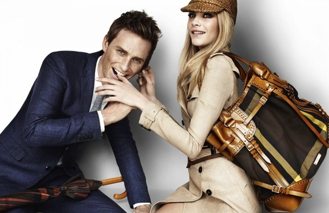 CAMPAIGN- Eddie Redmayne & Cara Delevingne for Burberry Spring 2012 by Mario Testino. www.imageamplified.com, Image Amplified8