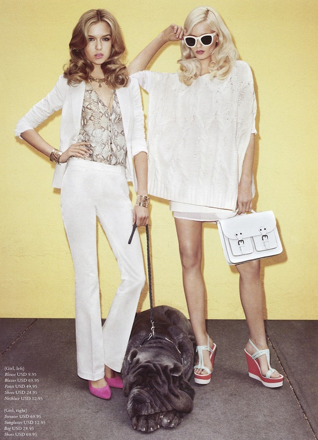 H&M MAGAZINE Abbey Lee Kershaw & Josephine Skriver in Ready Steady Gold by Terry Richardson. Julia Von Boehm, Spring 2012, www.imageamplified.com, Image Amplified (2)