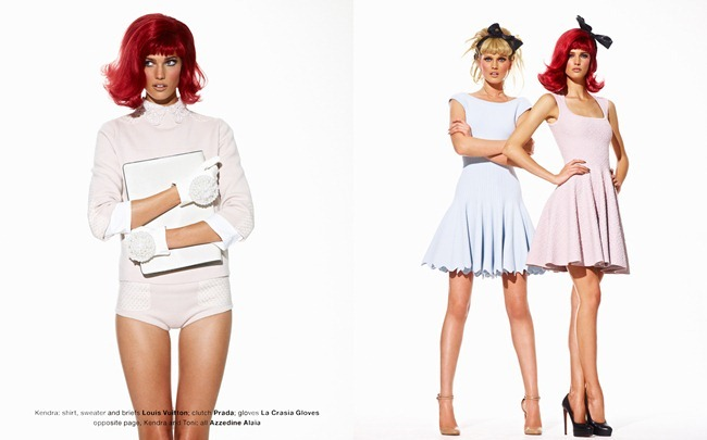 MUSE MAGAZINE- Kendra Spears & Toni Garrn in Lady Doll by Mariano Vivanco. Beth Fenton, Spring 2012, www.imageamplified.com, Image Amplified7