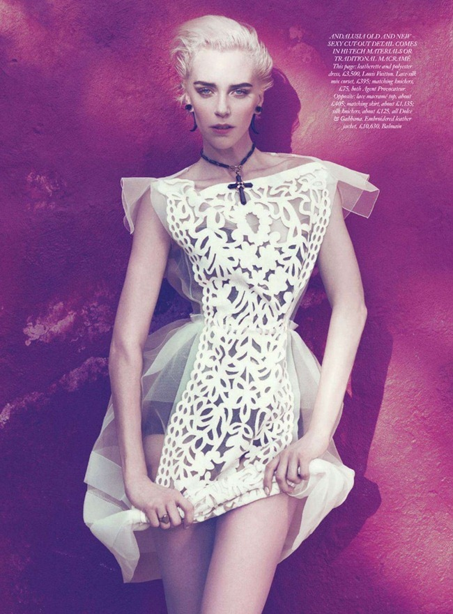 HARPER'S BAZAAR UK- Hannelore Knuts in Aria of Andalusia by Paola Kudacki. Melanie Huynh, April 2012, www.imageamplified.com, Image Amplified4