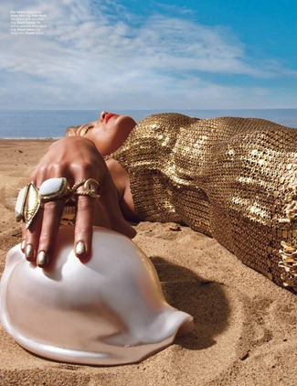 W MAGAZINE- Caroly Murphy in Gold Digger by Emma Summerton. Edward Enninful, April 2012, www.imageamplified.com, Image Amplified0