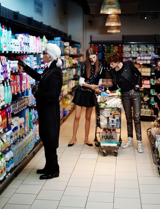ELLE FRANCE karl Lagerfeld, Saskia de Brauw & Caroline Brasch Nielsen in The Real Life of Karl Lagerfeld by Karl Lagerfeld. March 2012, www.imageamplified.com, Image Amplified (5)
