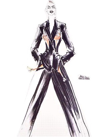 WE ♥ JEAN PAUL GAULTIER- Madonna's Blond Ambition Tour Sketches by Jean Paul Gaultier. www.imageamplified.com, Image Amplified