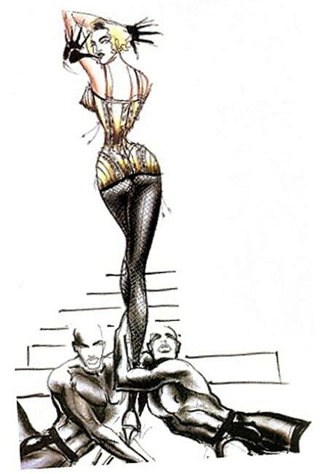 WE ♥ JEAN PAUL GAULTIER- Madonna's Blond Ambition Tour Sketches by Jean Paul Gaultier. www.imageamplified.com, Image Amplified (4)