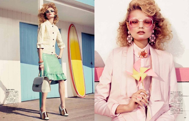 VOGUE JAPAN- Magdalena Frackowiak in Passionate for Pastel by Sharif Hamza. Giovanna Battaglia, February 2012, www.imageamplified.com, Image Amplified0
