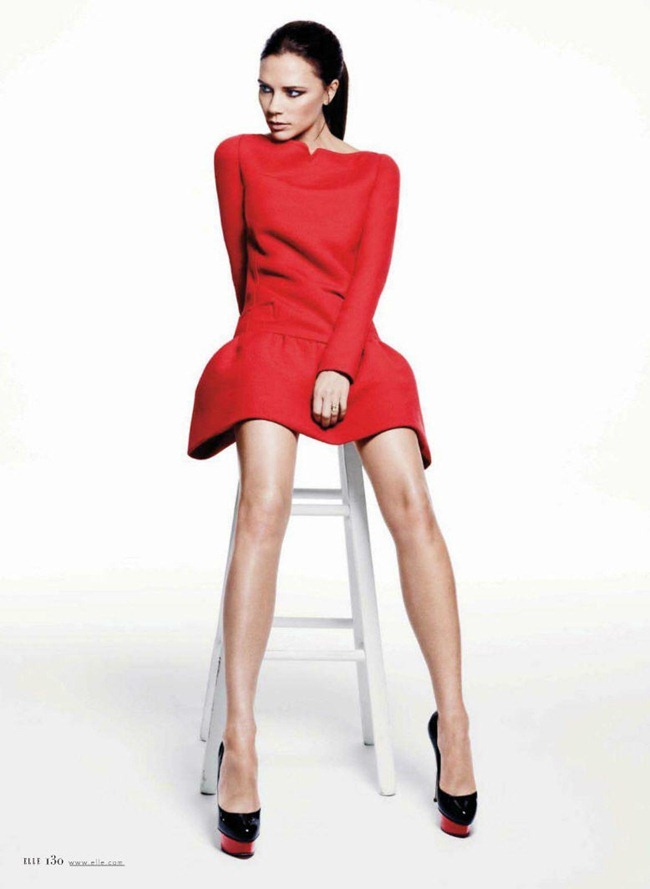 ELLE MAGAZINE- Victoria Beckam in 60s The Victoria Principle by Terry Tsiolis. January 2012, Ondine Azoulay, www.imageamplified.com, Image Amplified1