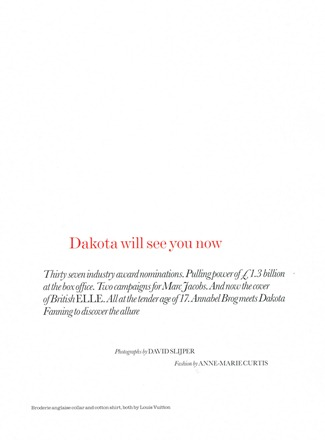 ELLE UK- Dakota Fanning in Dakota Will See You Now... by David Slijper. Anne-Marie Curtis, February 2012, www.imageamplified.com, Image Amplified9