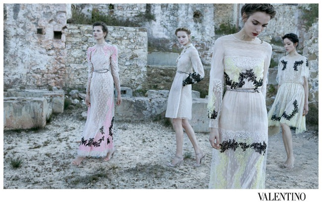 CAMPAIGN- Bette Franke, Fei Fei Sun, Zuzanna Bijoch & Maud Welzen for Valentino Spring 2012 by Deborah Turbeville. www.imageamplified.com, Image Amplified7