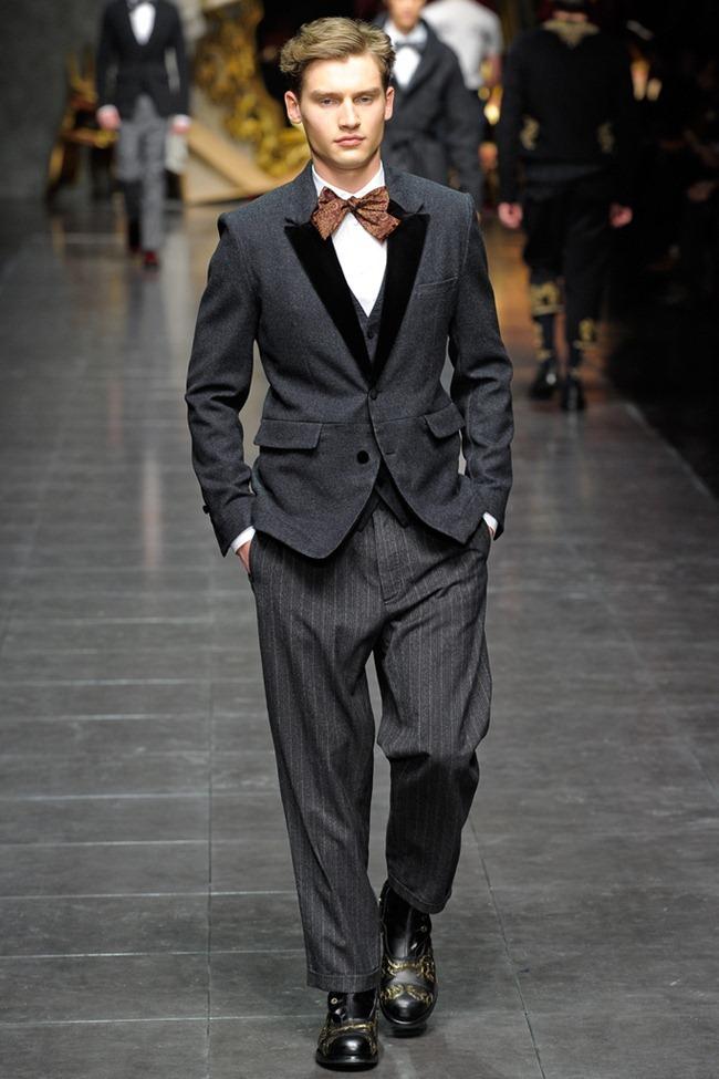 MILAN FASHION WEEK- Dolce & Gabbana Men's Fall 2012. www.imageamplified.com, Image Amplified2 (1)