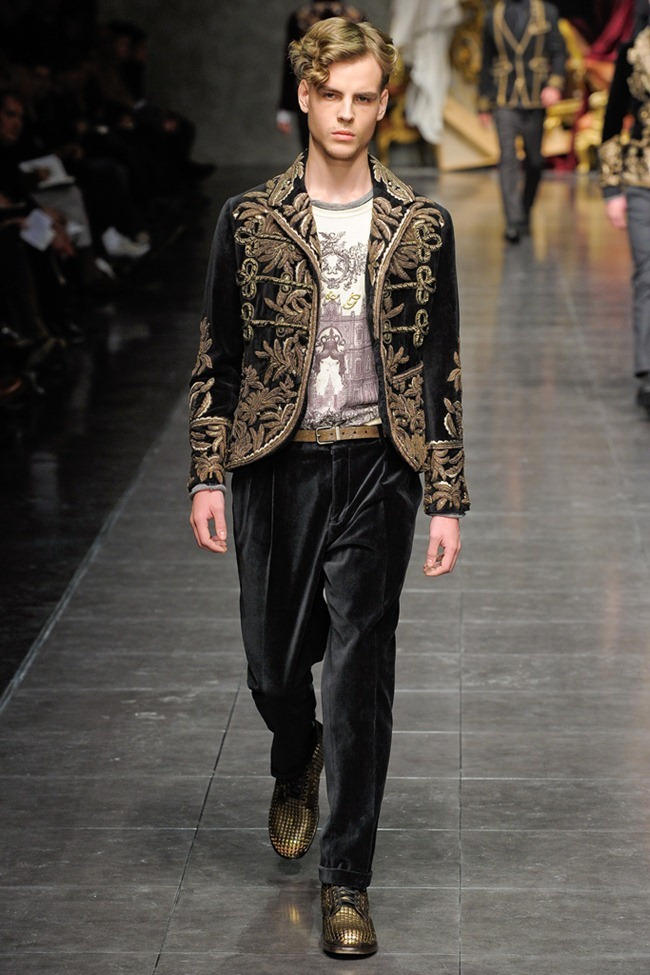 MILAN FASHION WEEK- Dolce & Gabbana Men's Fall 2012. www.imageamplified.com, Image Amplified8 (6)