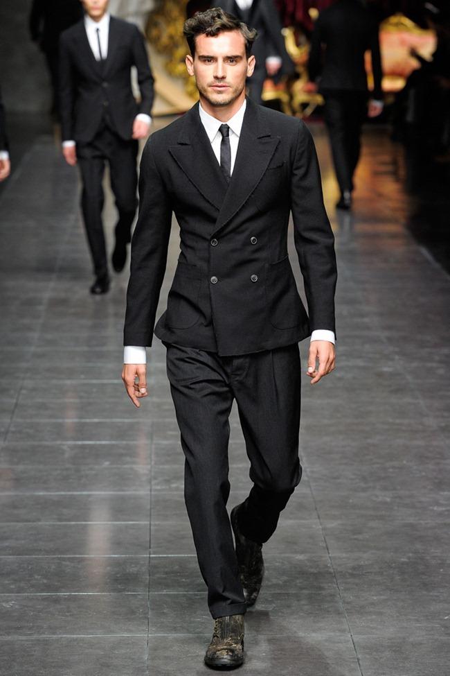 MILAN FASHION WEEK- Dolce & Gabbana Men's Fall 2012. www.imageamplified.com, Image Amplified9