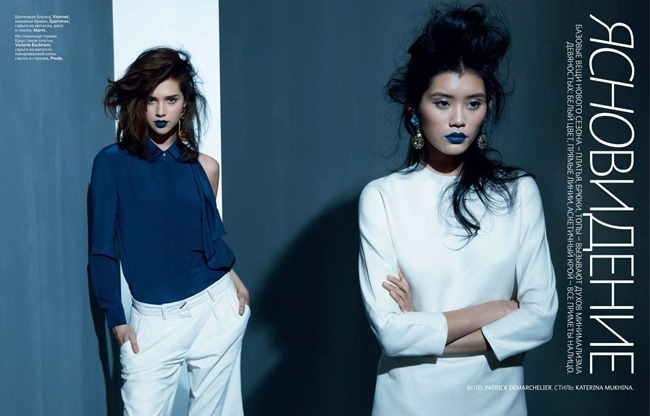 VOGUE RUSSIA- Anais Pouliot, Kate King, Ming Xi & Karo Mrozkova by patrick Demarchelier. Katerina Mukhina, February 2012, www.imageamplified.com, Image Amplified0