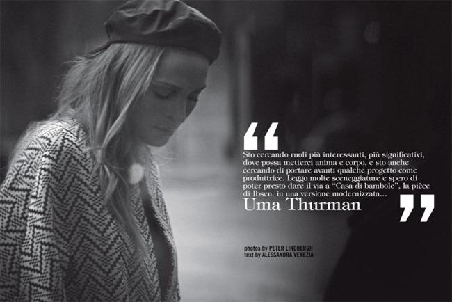 VOGUE ITALIA Uma Thurman by Peter Lindbergh. Michael Philouze, February 2012, www.imageamplified.com, Image Amplified (2)