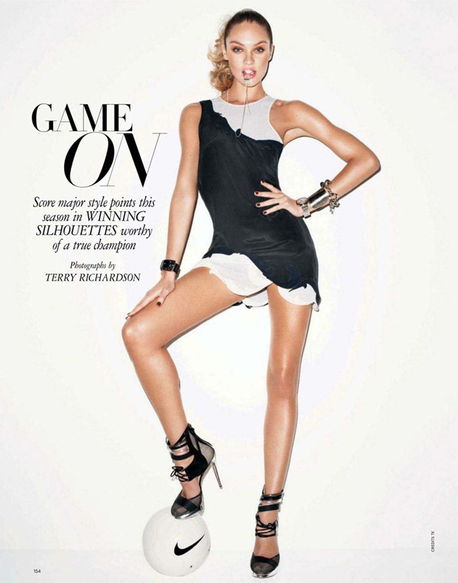 HARPER'S BAZAAR MAGAZINE Candice Swanepoel in Game On by Terry Richardson. Brana Wolf, February 2012, www.imageamplified.com, Image Amplified (2)
