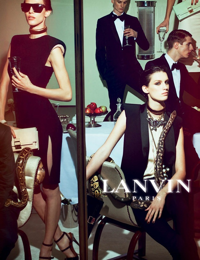 CAMPAIGN Johannes Schulze, Angus Low, Aaron Vernon, Othilia Simon, Aymeline Valade & Marte Mei van haaster for Lanvin Spring 2012 by Steven Meisel. www.imageamplified.com, Image Amplified (7)