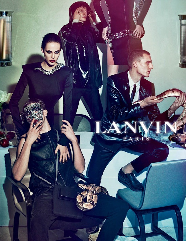 CAMPAIGN Johannes Schulze, Angus Low, Aaron Vernon, Othilia Simon, Aymeline Valade & Marte Mei van haaster for Lanvin Spring 2012 by Steven Meisel. www.imageamplified.com, Image Amplified (10)