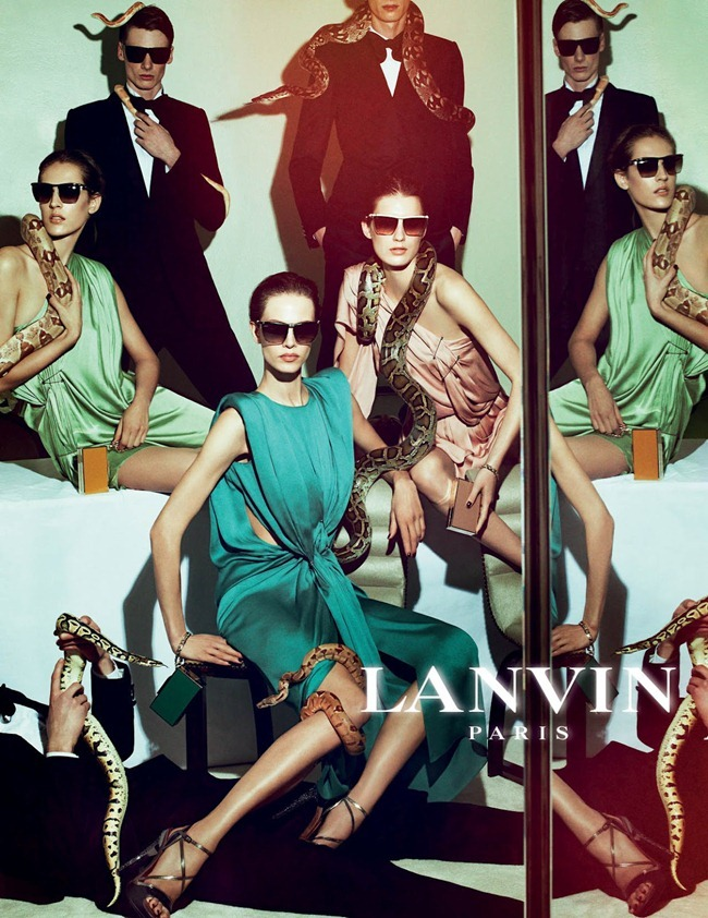 CAMPAIGN Johannes Schulze, Angus Low, Aaron Vernon, Othilia Simon, Aymeline Valade & Marte Mei van haaster for Lanvin Spring 2012 by Steven Meisel. www.imageamplified.com, Image Amplified (2)