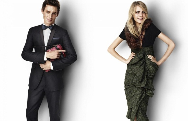 CAMPAIGN- Eddie Redmayne & Cara Delevingne for Burberry Spring 2012 by Mario Testino. www.imageamplified.com, Image Amplified9