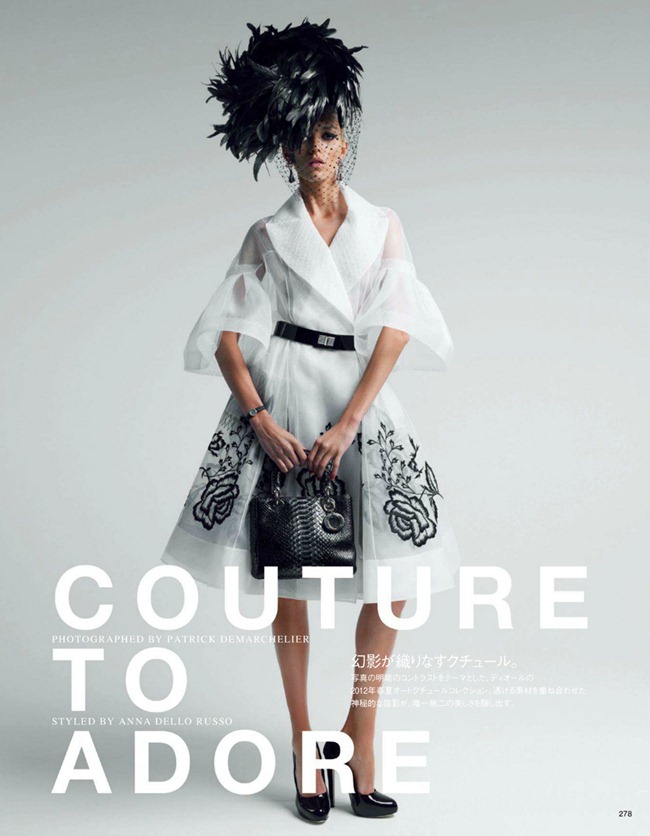 VOGUE JAPAN- Anja Rubik in Couture To Adore by Patrick Demarchelier. Anna Dello Russo, www.imageamplified.com, Image Amplified