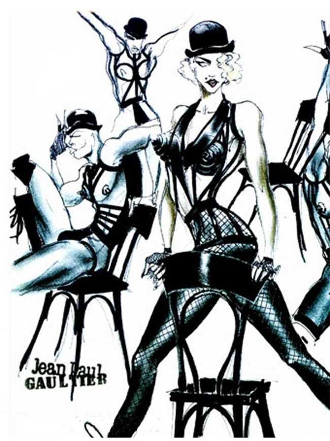 WE ♥ JEAN PAUL GAULTIER- Madonna's Blond Ambition Tour Sketches by Jean Paul Gaultier. www.imageamplified.com, Image Amplified (9)