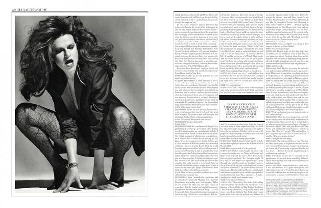 INTERVIEW MAGAZINE- Sandra Bernhard by Sebastian Kim. www.imageamplified.com, Image Amplified